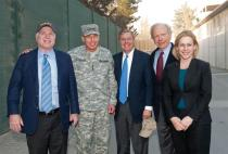 Senator McCain, General Petraeus, Senator Graham, Senator Lieberman, Senator Gillibrand at ISIF Headquarters in Kabul